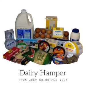 dairy food hampers