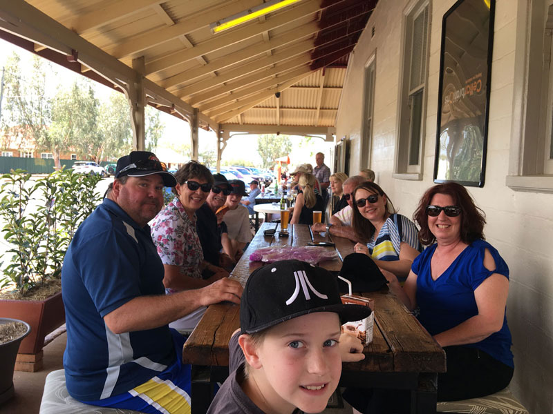 Rene Mannings family Club Boutique Hotel Cunnamulla Characters Brewed