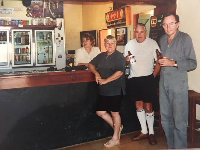 Trip to Cooper Creek and Hungerford Noccundra Hotel June Evert Brian Burke Neale Evert
